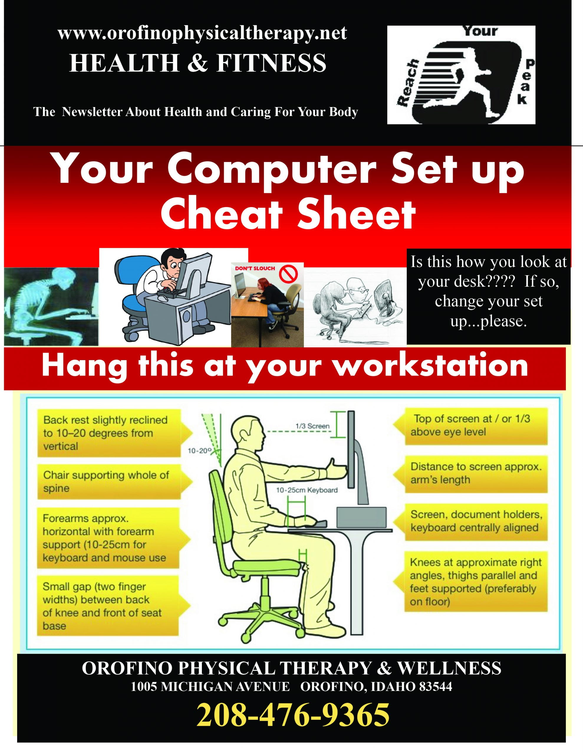 Computer Set Up Cheat Sheet