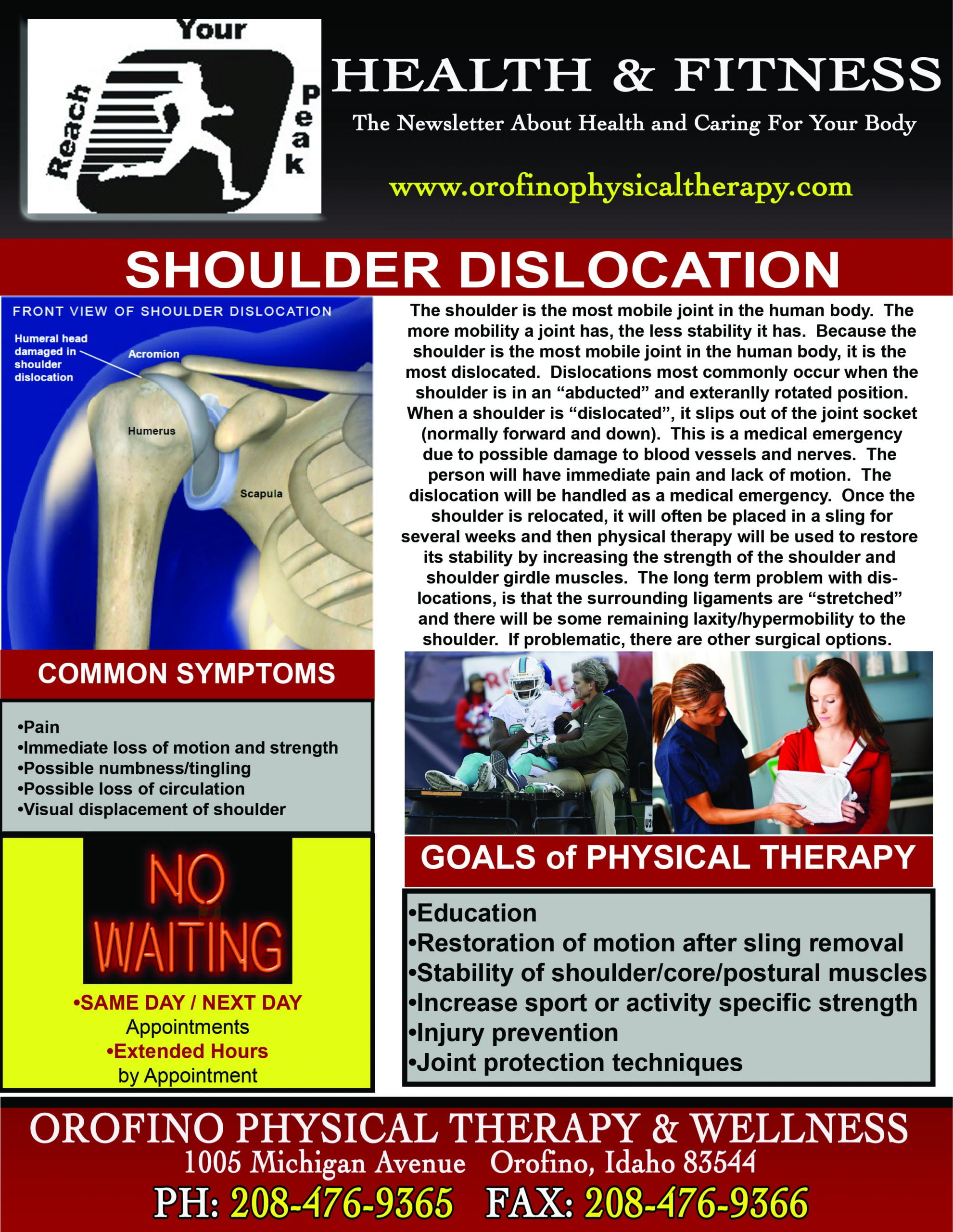 OPT NL Shoulder Dislocation