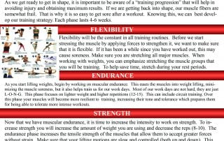 The Strengthening Progression